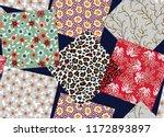 small flower box pattern on... | Shutterstock .eps vector #1172893897