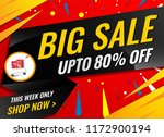 big sale banner template | Shutterstock .eps vector #1172900194