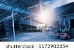 modern trade warehouse... | Shutterstock . vector #1172902354