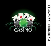 casino element poker cards and... | Shutterstock .eps vector #117290455