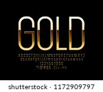 luxury golden font. elegant... | Shutterstock .eps vector #1172909797