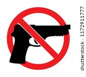 vector no guns sign isolated on ... | Shutterstock .eps vector #1172911777
