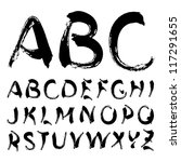 vector alphabet | Shutterstock .eps vector #117291655