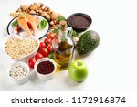 healthy food for heart....   Shutterstock . vector #1172916874