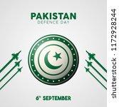 vector 6th september pakistan... | Shutterstock .eps vector #1172928244