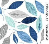 seamless pattern with leaf ... | Shutterstock .eps vector #1172929561