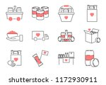 food drive outline icon... | Shutterstock .eps vector #1172930911
