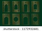 set of golden vintage frames in ...   Shutterstock .eps vector #1172932681
