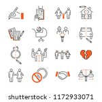 divorce mediation outline icon... | Shutterstock .eps vector #1172933071
