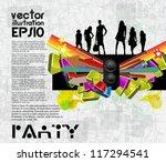 concert poster. vector... | Shutterstock .eps vector #117294541