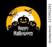 halloween background with... | Shutterstock .eps vector #1172951251