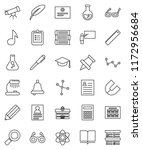thin line vector icon set  ... | Shutterstock .eps vector #1172956684