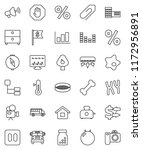 thin line vector icon set  ... | Shutterstock .eps vector #1172956891