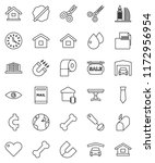 thin line vector icon set  ... | Shutterstock .eps vector #1172956954