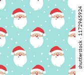 seamless christmas pattern with ... | Shutterstock .eps vector #1172965924