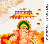 illustration of happy ganesh... | Shutterstock .eps vector #1172971267