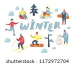 flat people characters on happy ... | Shutterstock .eps vector #1172972704