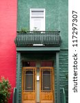 facade of houses  colorful ... | Shutterstock . vector #117297307