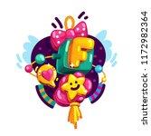 baby girl alphabet letter f | Shutterstock .eps vector #1172982364
