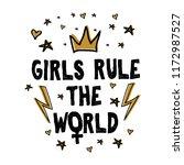 girls rule the world. vector... | Shutterstock .eps vector #1172987527
