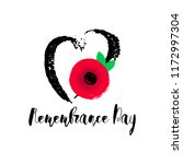 remembrance day vector poster.... | Shutterstock .eps vector #1172997304