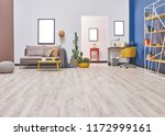 white blue wall concept living... | Shutterstock . vector #1172999161