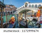 venice italy 04.02.2018 ... | Shutterstock . vector #1172999674