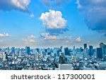 landscape bangkok city at... | Shutterstock . vector #117300001