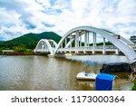 white bridge above mae tha...   Shutterstock . vector #1173000364