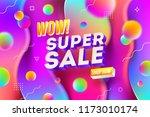 super sale promotion design.... | Shutterstock .eps vector #1173010174