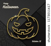 glitter gold contour of a jack... | Shutterstock .eps vector #1173011617