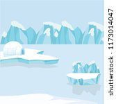 arctic iceberg and mountains in ... | Shutterstock .eps vector #1173014047