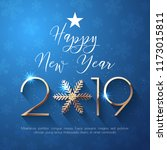 happy new year 2019 text design.... | Shutterstock .eps vector #1173015811
