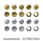 vector collection of steel and... | Shutterstock .eps vector #1173017614