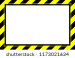 warning sign yellow black... | Shutterstock .eps vector #1173021634