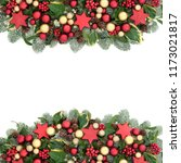 christmas decorative background ... | Shutterstock . vector #1173021817