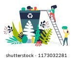 solving ecological problems by... | Shutterstock .eps vector #1173032281