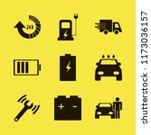 auto vector icons set. with... | Shutterstock .eps vector #1173036157