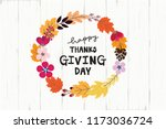 cute vintage thanksgiving and... | Shutterstock .eps vector #1173036724