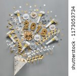 new year 2019  party decoration | Shutterstock . vector #1173053734