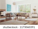 sunlight coming through a large ...   Shutterstock . vector #1173060391