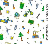 seamless pattern with doodle...   Shutterstock .eps vector #1173071701