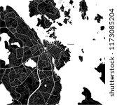 area map of stavanger  norway.... | Shutterstock .eps vector #1173085204