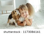child with dog | Shutterstock . vector #1173086161
