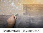 home renovate with vinyl... | Shutterstock . vector #1173090214