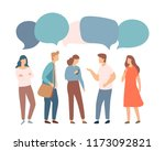 young people characters with... | Shutterstock .eps vector #1173092821