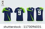 blue and green t shirt sport... | Shutterstock .eps vector #1173096031