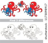 find the several differences... | Shutterstock .eps vector #1173098917