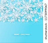origami snowfall. merry... | Shutterstock .eps vector #1173099067