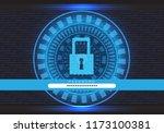 blue technology data computer... | Shutterstock .eps vector #1173100381